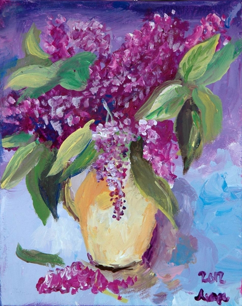 Lilac. Expressive Painting.
