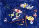 Реплика с картины Василия Кандинского «Синее небо»