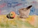 Ступка и яблоко