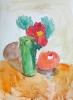 Цветы и яблоко