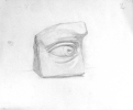 Eye in stone