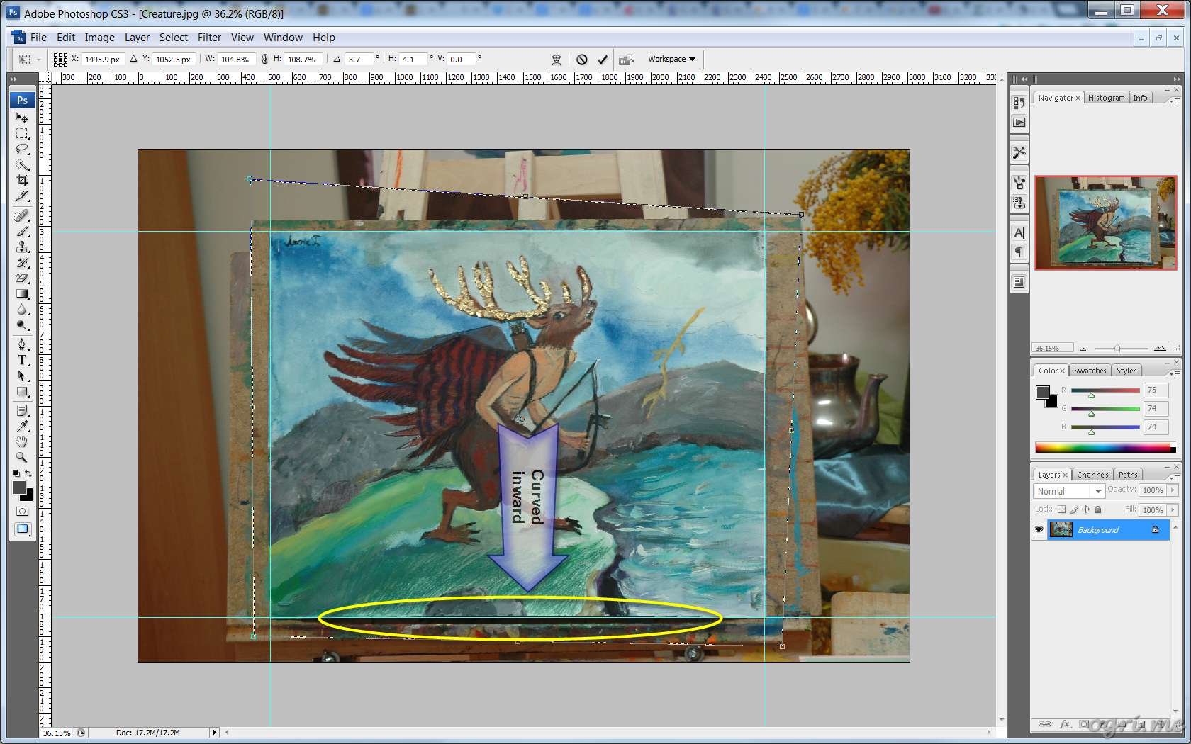 ogri.me | Photoshop: Processing photos of paintings for online gallery #06