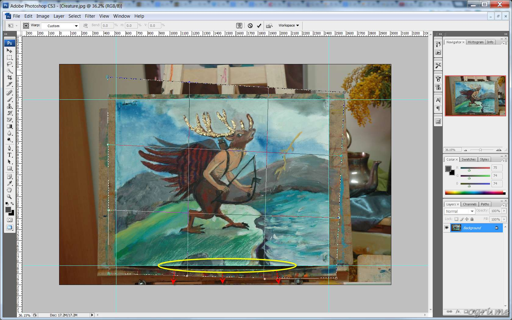 ogri.me | Photoshop: Processing photos of paintings for online gallery #07