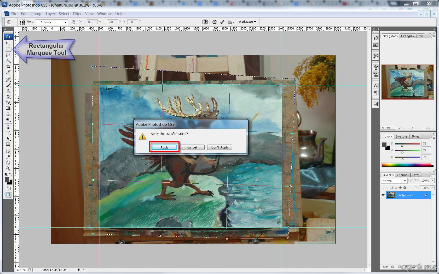 ogri.me | Photoshop: Processing photos of paintings for online gallery #08