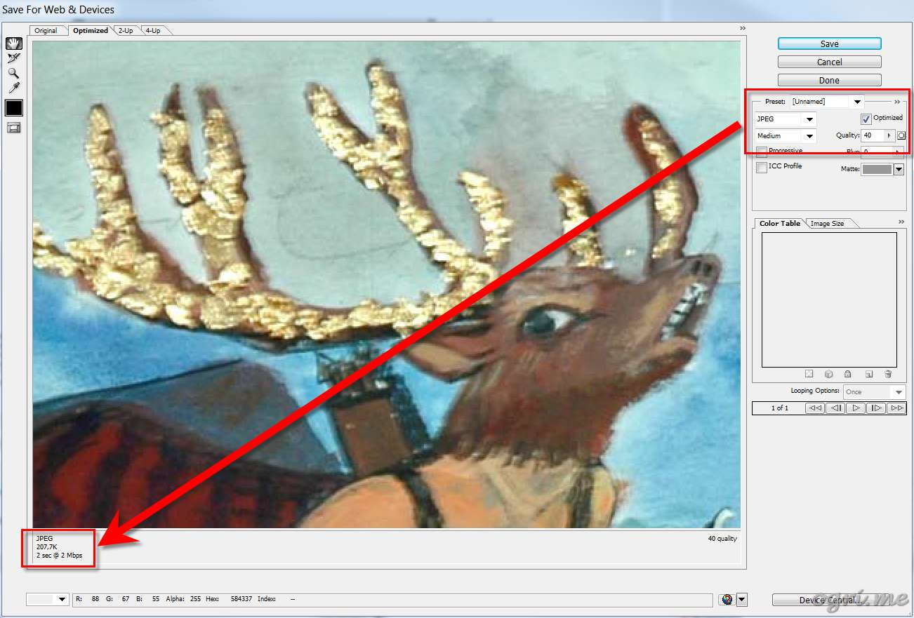 ogri.me | Photoshop: Processing photos of paintings for online gallery #12