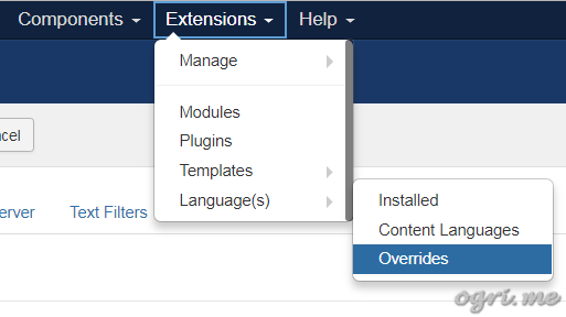Joomla: how to add your own language constants or override existing ones - 1