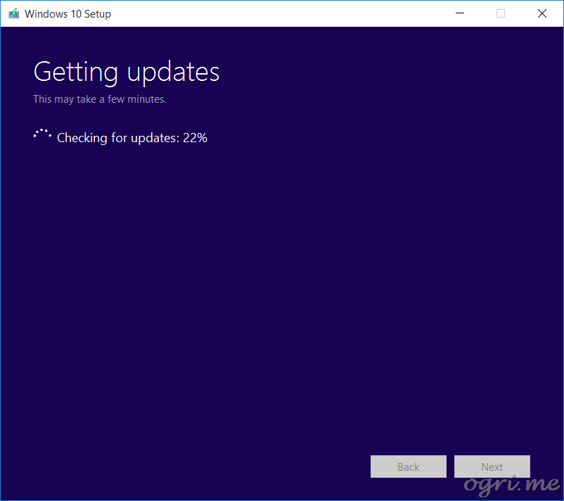 repair install win10 02 getting updates