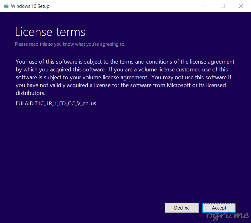 repair install win10 03 license terms