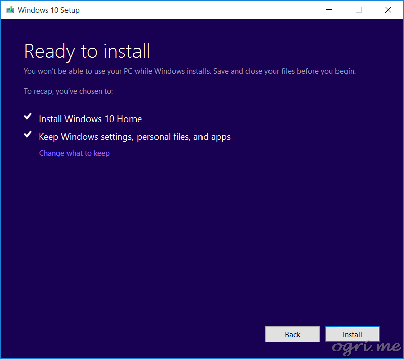 repair install win10 04 ready to install