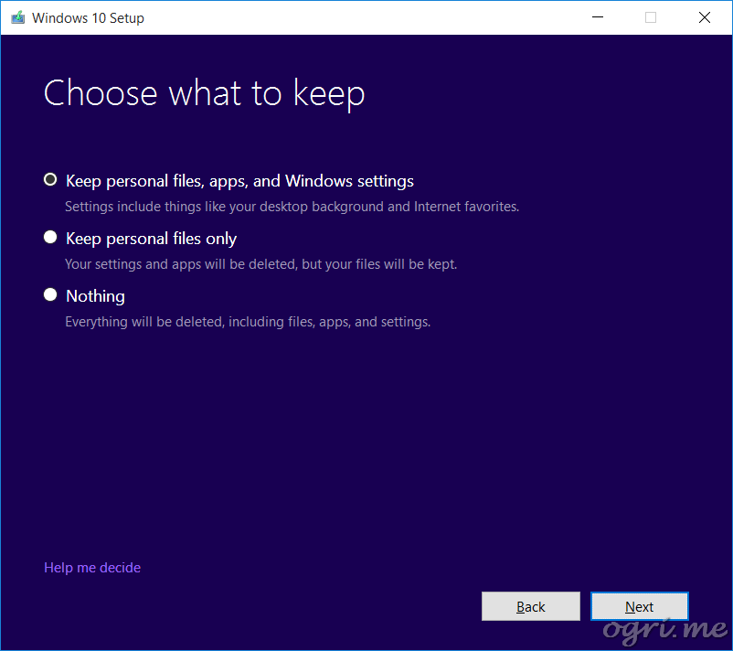repair install win10 05 installation type